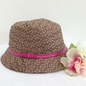 COACH Girls Signature Bucket Hat Large/XL
